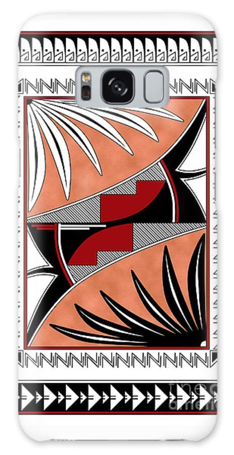 Southwest Galaxy S8 Case featuring the digital art Southwest Collection - Design Three In Red by Tim Hightower
