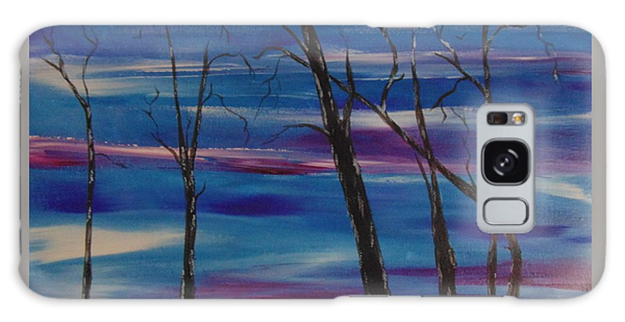Trees Galaxy S8 Case featuring the painting Desolate Land by Ginny Youngblood