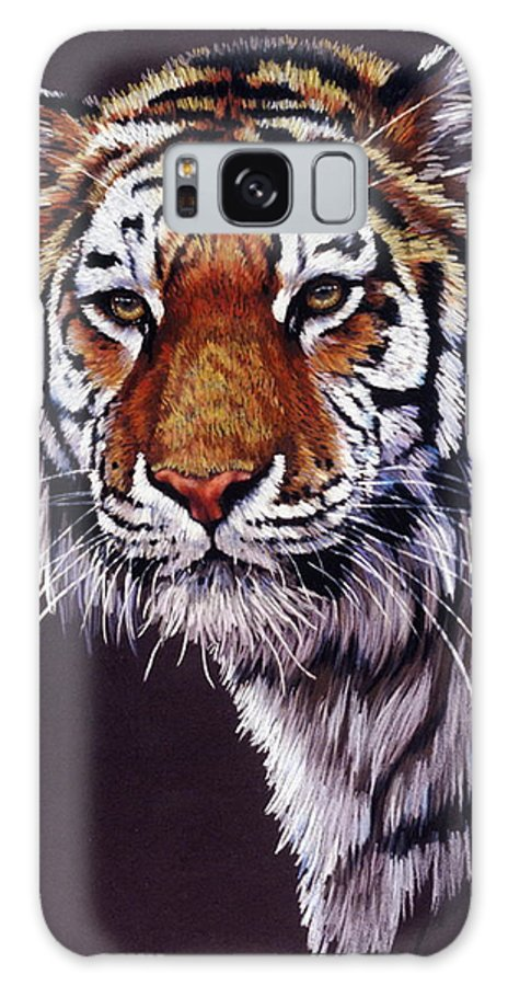 Tiger Galaxy S8 Case featuring the drawing Desperado by Barbara Keith