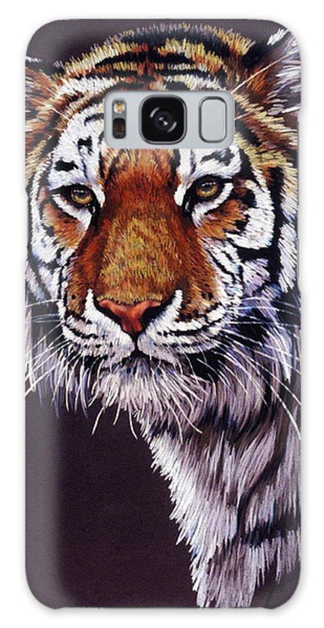 Tiger Galaxy S8 Case featuring the drawing Desperado by Barbara Keith