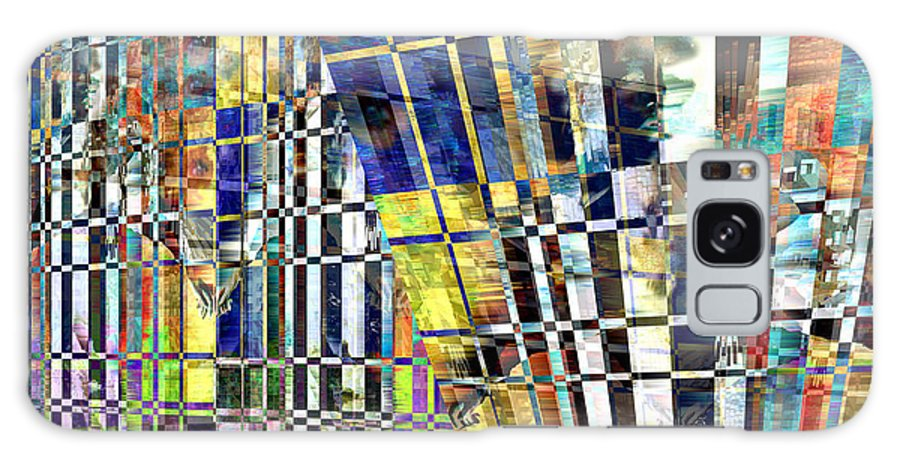 Abstract Galaxy Case featuring the digital art Desperate Reflections by Seth Weaver