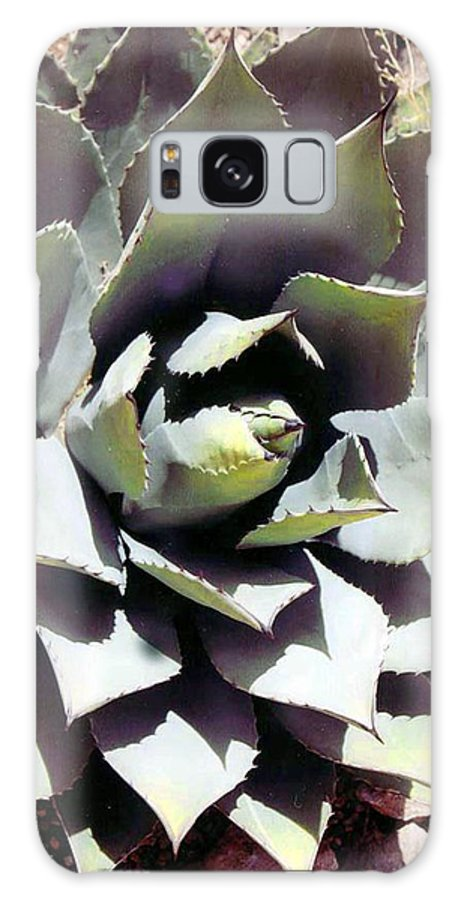 Flower Galaxy Case featuring the photograph Dessert Agave by Margaret Fortunato