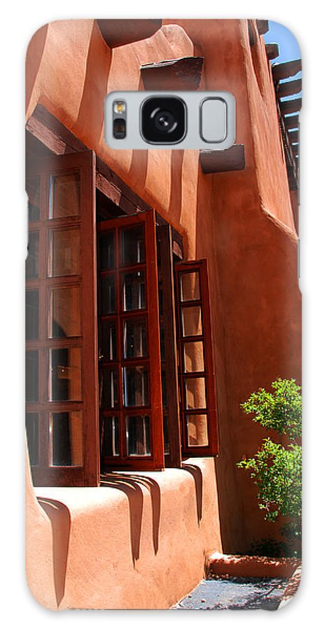 Santa Fe Galaxy S8 Case featuring the photograph Detail Of A Pueblo Style Architecture In Santa Fe by Susanne Van Hulst