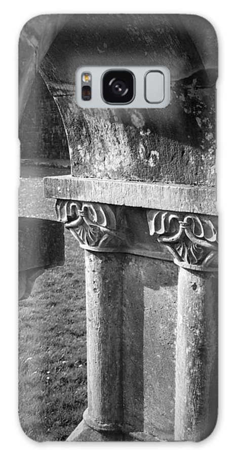 Irish Galaxy Case featuring the photograph Detail Of Cloister At Cong Abbey Cong Ireland by Teresa Mucha