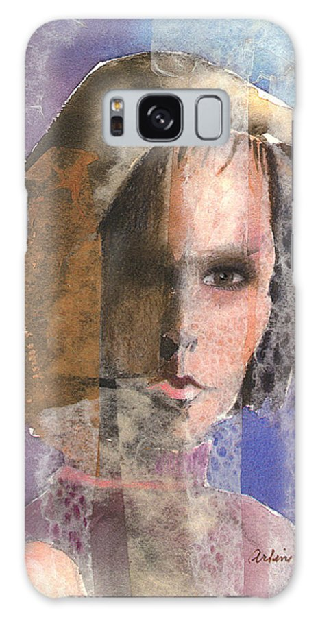 Woman Galaxy Case featuring the mixed media Determination by Arline Wagner