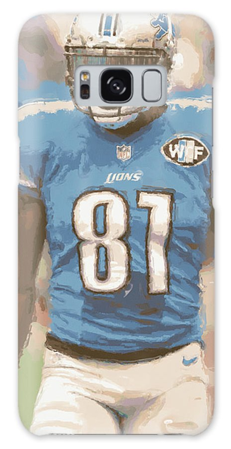 Detroit Lions Galaxy S8 Case featuring the photograph Detroit Lions Calvin Johnson 1 by Joe Hamilton