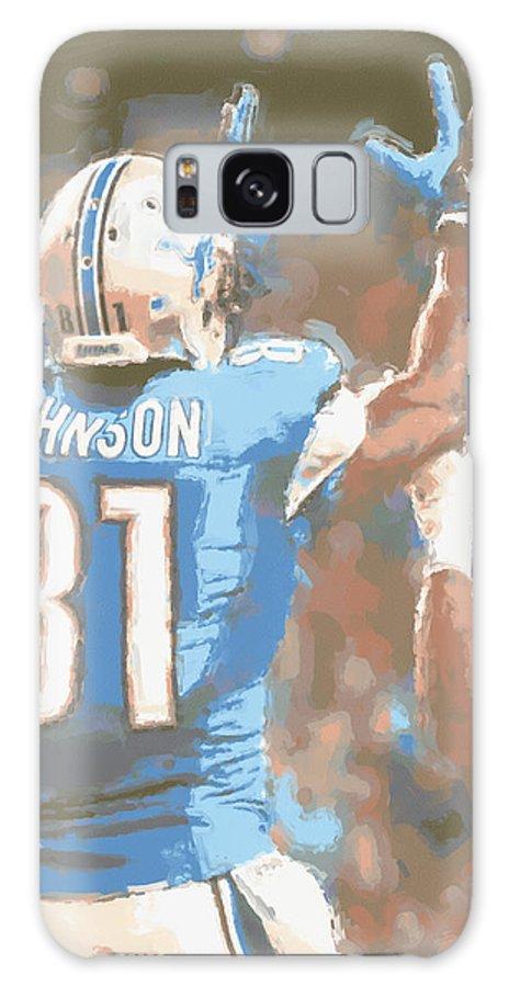 Detroit Lions Galaxy S8 Case featuring the photograph Detroit Lions Calvin Johnson 2 by Joe Hamilton