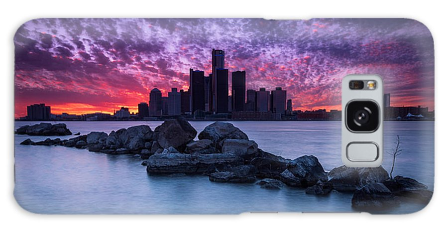 Detroit Galaxy S8 Case featuring the photograph Detroit Skyline Clouds by Cale Best