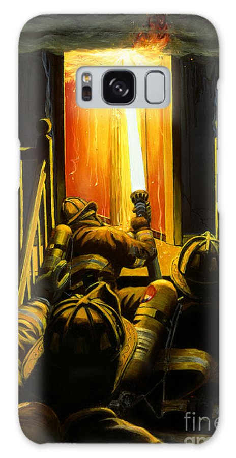 Firefighting Galaxy S8 Case featuring the painting Devil's Stairway by Paul Walsh