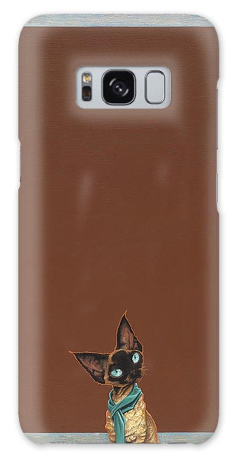 Devon Rex Galaxy S8 Case featuring the painting Devon Rex by Jasper Oostland