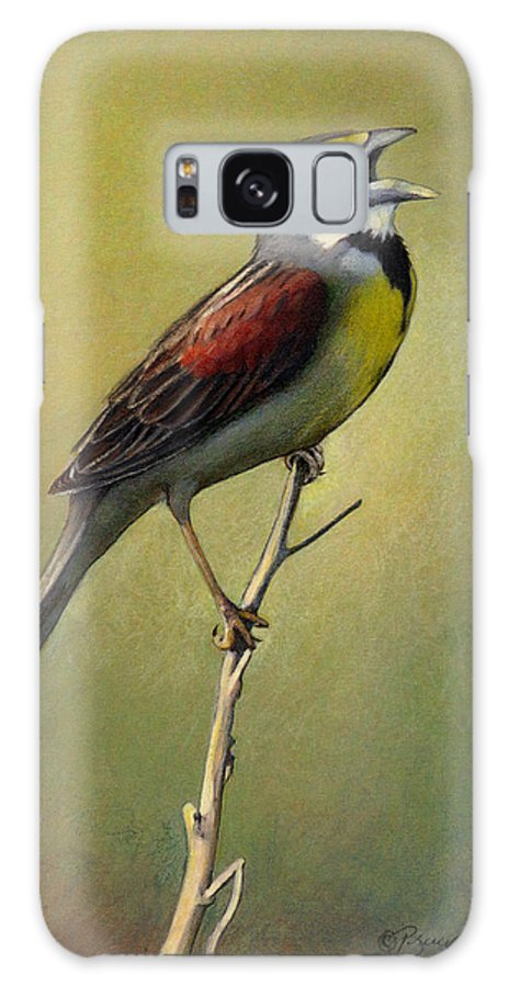 Birds Galaxy Case featuring the drawing Dickcissel Summer Song by Bruce Morrison