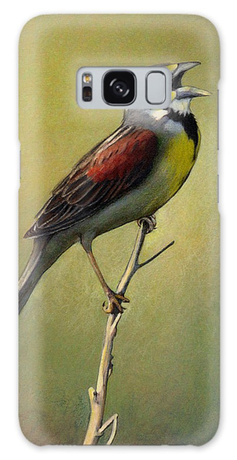 Birds Galaxy S8 Case featuring the drawing Dickcissel Summer Song by Bruce Morrison