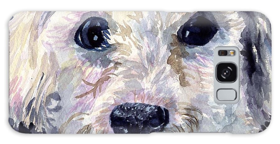 Bichon Frise Galaxy S8 Case featuring the painting Did You Say Lunch by Sharon E Allen