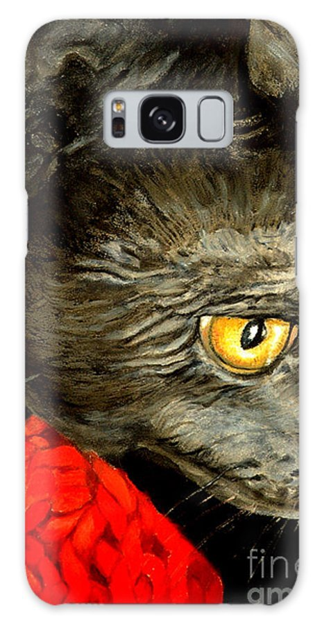 Animal Painting Galaxy S8 Case featuring the painting Diego The Cat by Portraits By NC