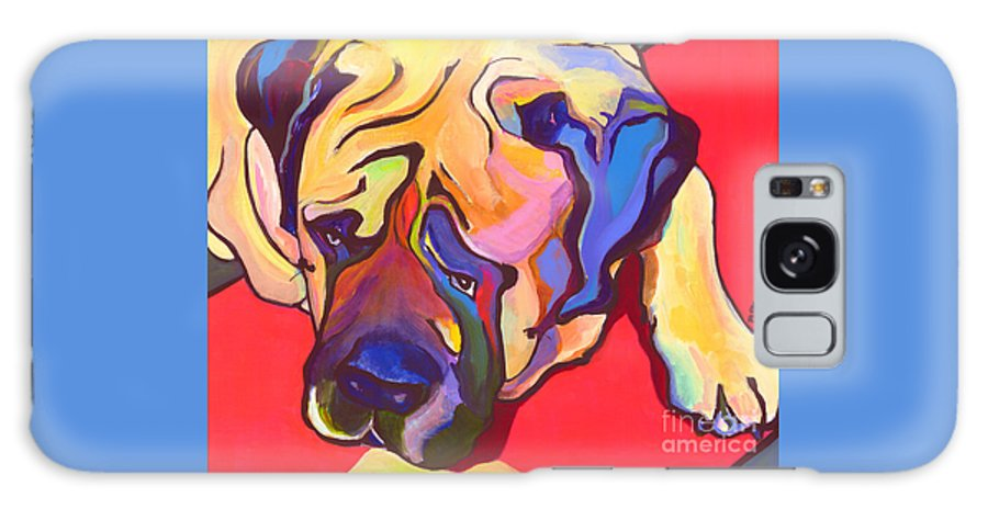 Mastiff Galaxy S8 Case featuring the painting Diesel  by Pat Saunders-White