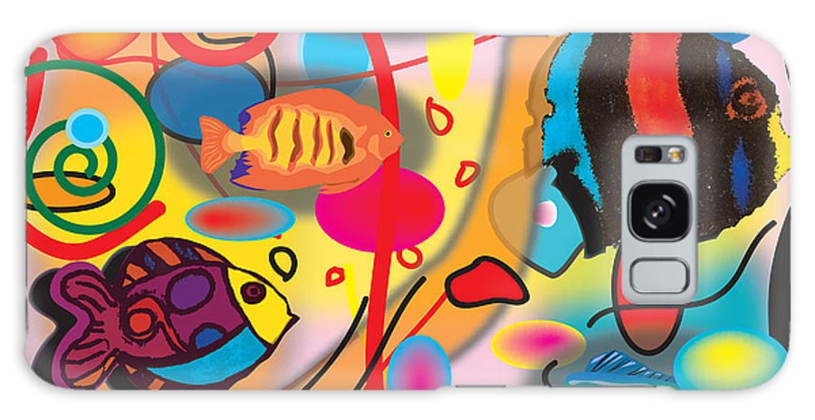 Colorful Fish Galaxy S8 Case featuring the digital art Digital Fish by Christine Perry
