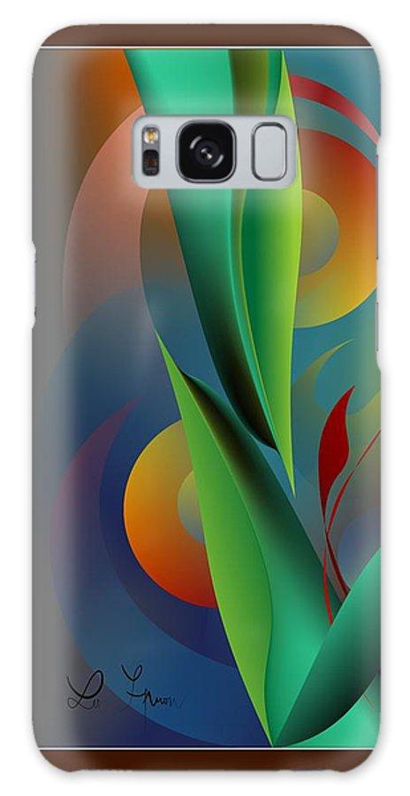 Digital Garden Galaxy S8 Case featuring the digital art Digital Garden Dreaming by Leo Symon