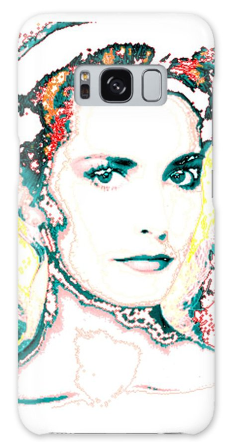Digital Galaxy S8 Case featuring the digital art Digital Self Portrait by Kathleen Sepulveda