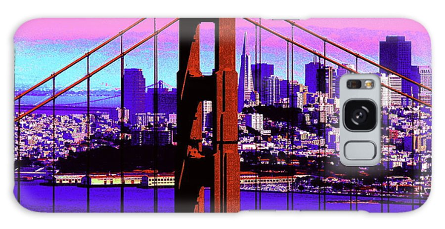 Bay Galaxy S8 Case featuring the photograph Digital Sunset - Ggb by Lou Ford