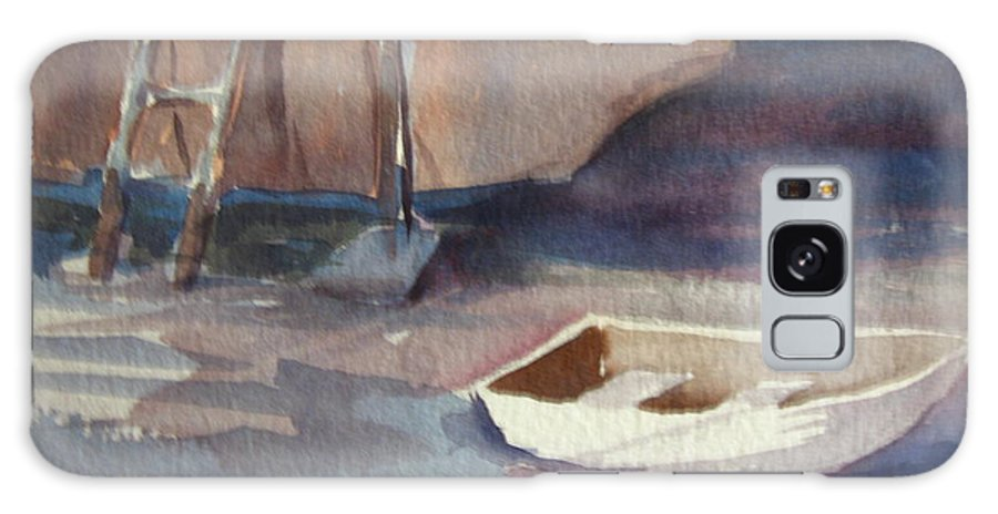 Boats Galaxy S8 Case featuring the painting Dinghy by Carol Mueller