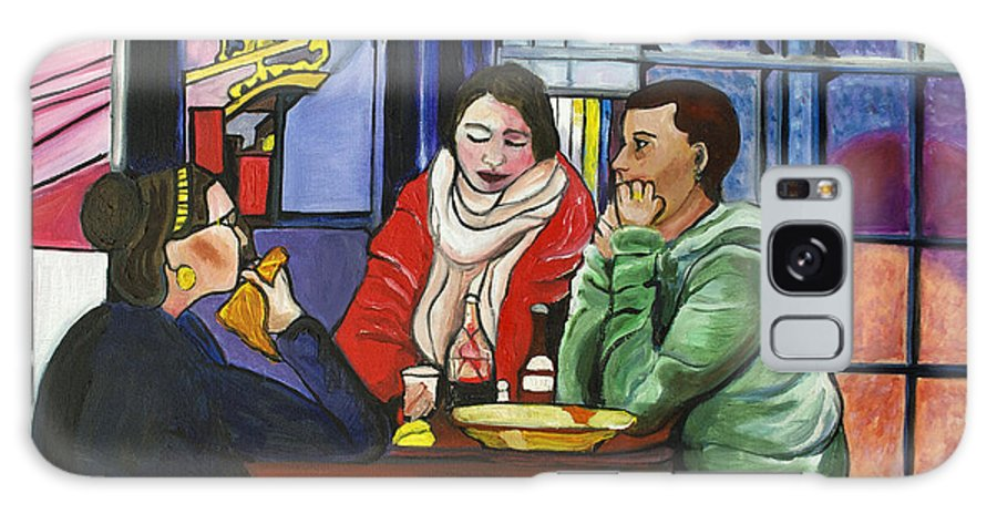 People Galaxy Case featuring the painting Dinner In Dam by Patricia Arroyo