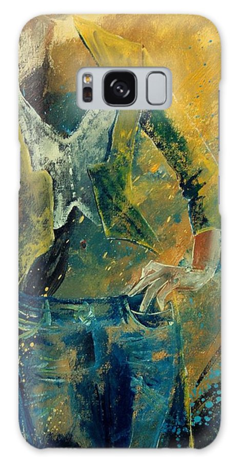 Woman Girl Fashion Galaxy S8 Case featuring the painting Dinner Jacket by Pol Ledent