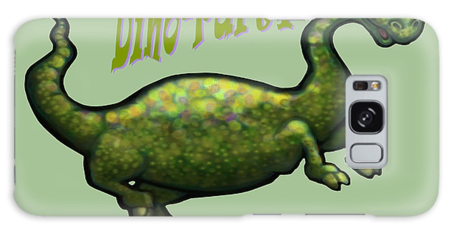 Dinosaur Galaxy S8 Case featuring the greeting card Dino Party by Kevin Middleton