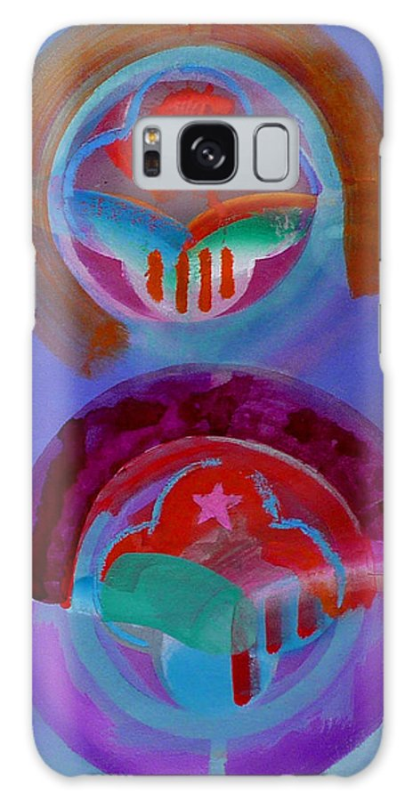 Logo Galaxy Case featuring the painting Diptych by Charles Stuart