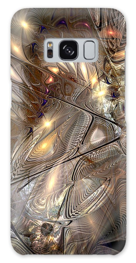 Abstract Galaxy S8 Case featuring the digital art Disorderly Relativistic Interpretations by Casey Kotas