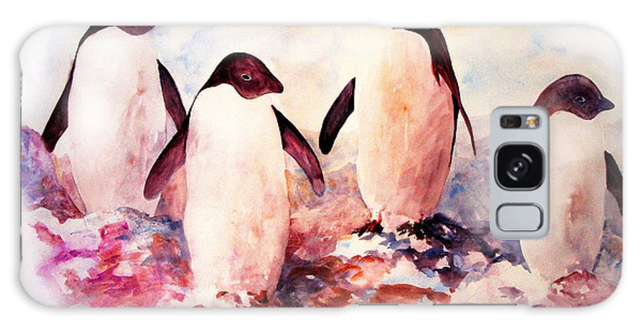 Penguins Galaxy Case featuring the painting Dissident by Rachel Christine Nowicki