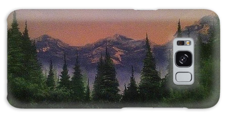 Mountain/ Landscape Galaxy S8 Case featuring the painting Distant Glow by Glen Mcclements