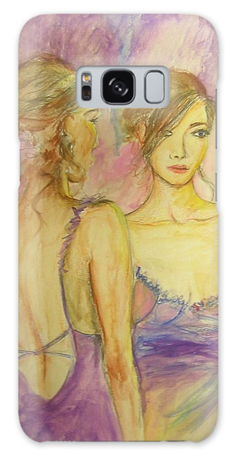 Feminine Galaxy S8 Case featuring the painting Distracted by Lizzy Forrester