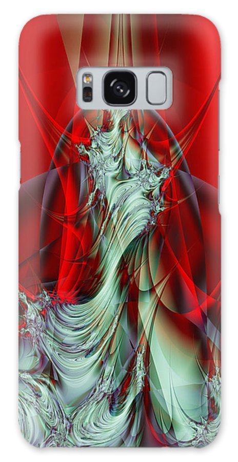 Fractal Galaxy Case featuring the digital art Diva by Frederic Durville