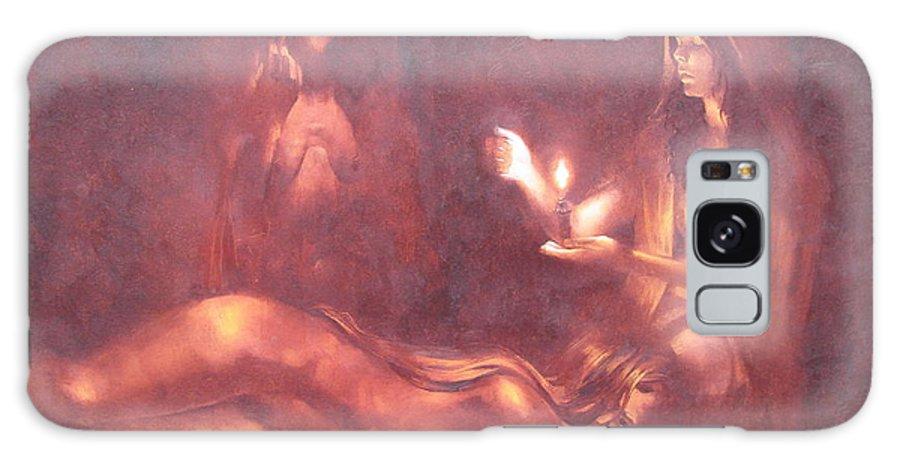 Ignatenko Galaxy S8 Case featuring the painting Divination by Sergey Ignatenko