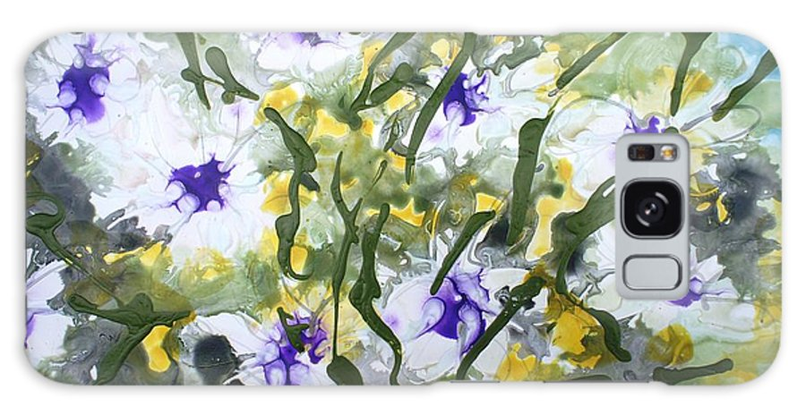 Flowers Galaxy S8 Case featuring the painting Divine Blooms-21172 by Baljit Chadha
