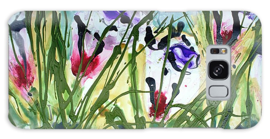 Flowers Galaxy S8 Case featuring the painting Divine Blooms-21174 by Baljit Chadha