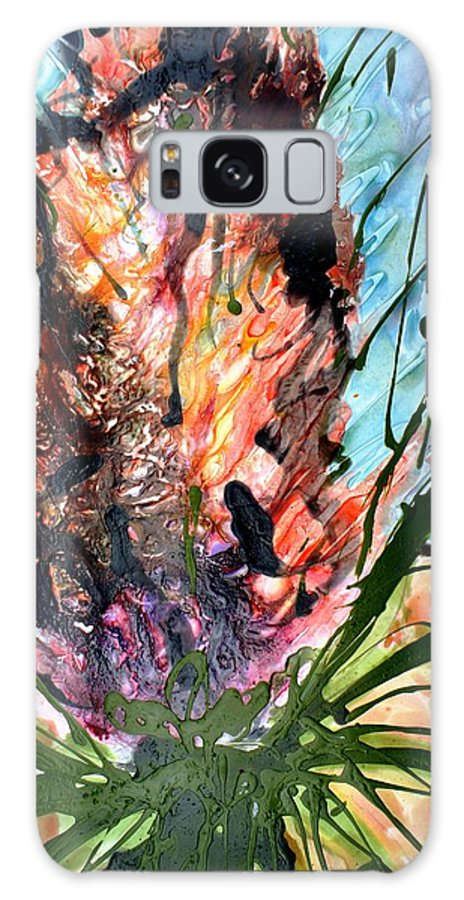 Flowers Galaxy S8 Case featuring the painting Divine Blooms-21177 by Baljit Chadha