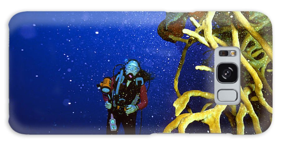 Dive Galaxy S8 Case featuring the photograph Diving The Wall At Little Cayman by Carl Purcell