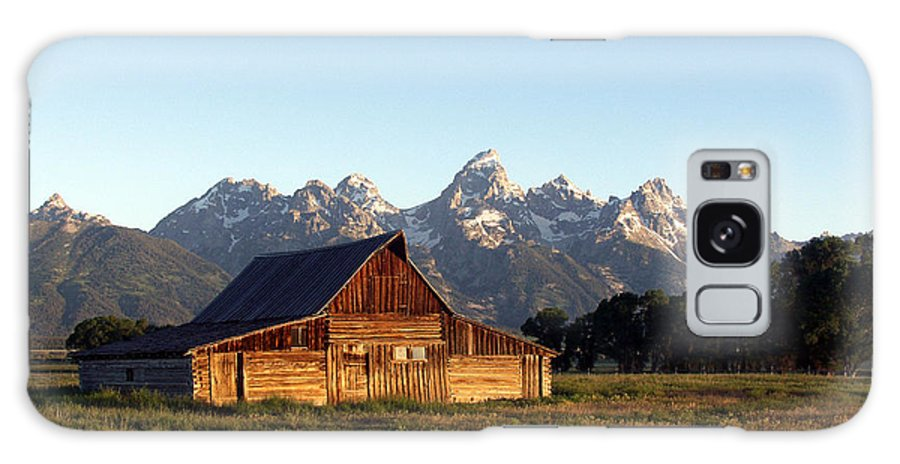 Landscape Yellowstone Grand Tetons Cabin Galaxy S8 Case featuring the photograph Dnrd0104 by Henry Butz