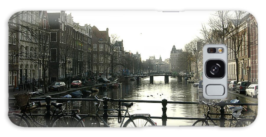 Landscape Amsterdam Red Light District Galaxy Case featuring the photograph Dnrh1103 by Henry Butz