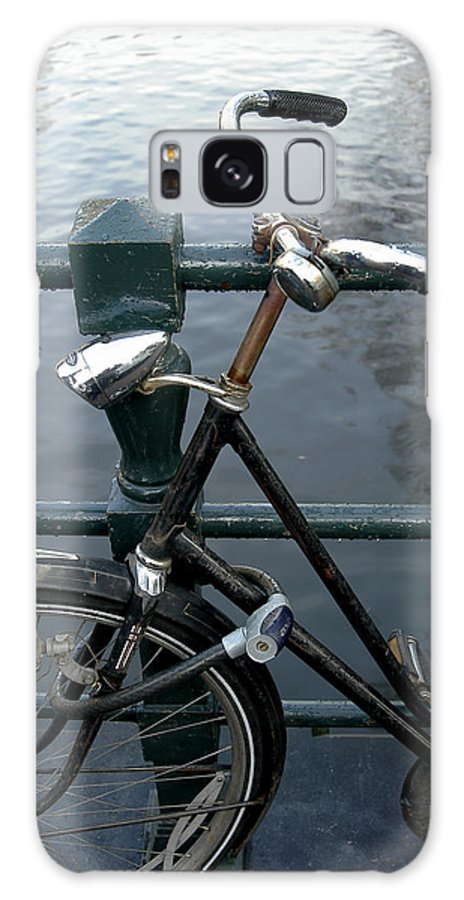 Landscape Amsterdam Red Light District Bicycle Galaxy Case featuring the photograph Dnrh1104 by Henry Butz