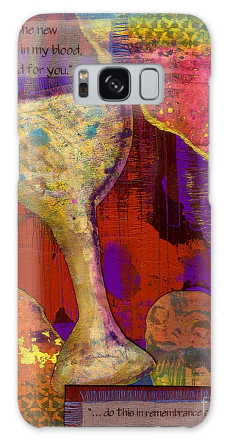 Wood Galaxy S8 Case featuring the mixed media Do This In Remembrance by Angela L Walker