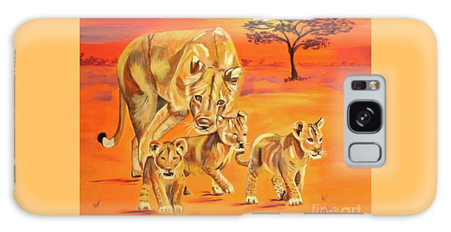 Lioness Galaxy S8 Case featuring the painting Do What Mom Says by Phyllis Kaltenbach