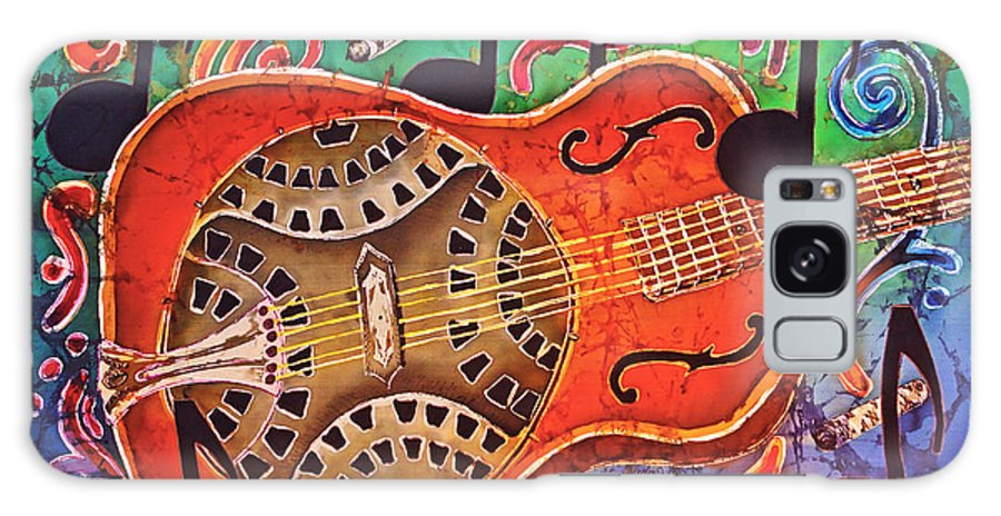 Dobro Galaxy S8 Case featuring the tapestry - textile Dobro - Slide Guitar by Sue Duda