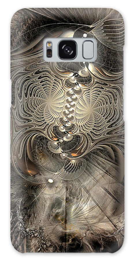 Abstract Galaxy S8 Case featuring the digital art Doctrinal Entrapment by Casey Kotas