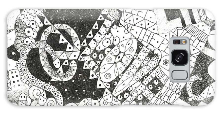 Words Galaxy S8 Case featuring the drawing Does It Come With Instructions by Helena Tiainen