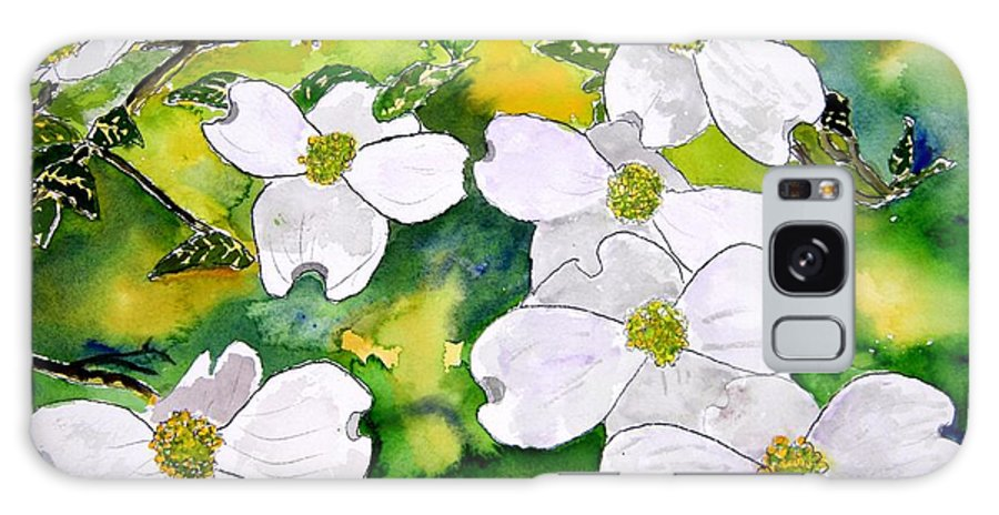 Dogwood Galaxy S8 Case featuring the painting Dogwood Tree Flowers by Derek Mccrea
