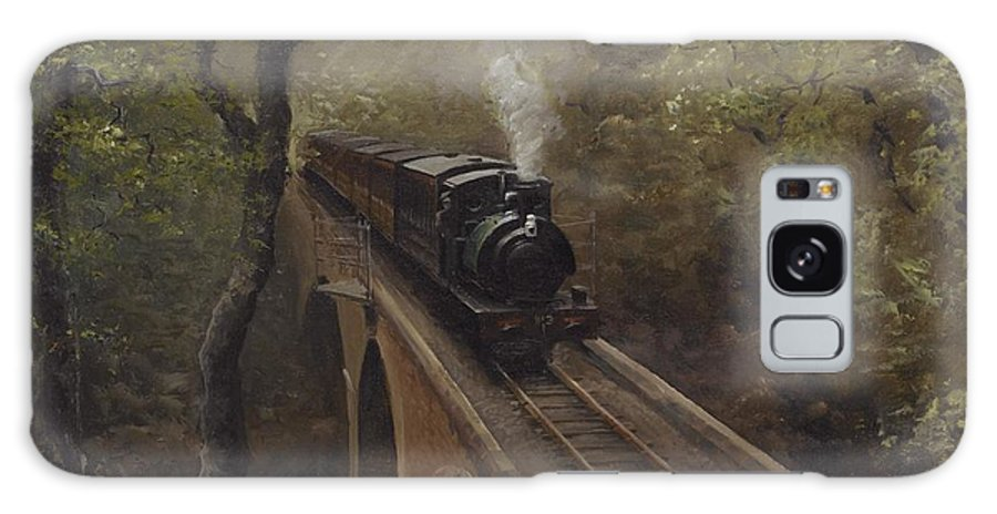 Steam Galaxy S8 Case featuring the painting Dolgoch Viaduct by Richard Picton