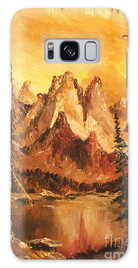 Mountain Galaxy S8 Case featuring the painting Dolomiti by Sorin Apostolescu