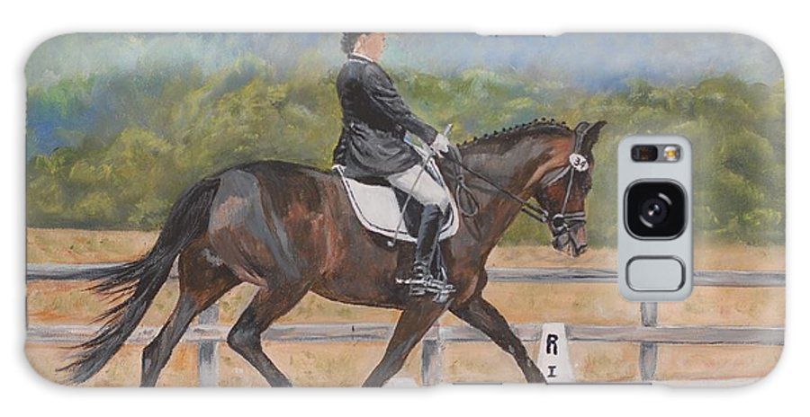 Horse Galaxy Case featuring the painting Donnerlittchen by Quwatha Valentine